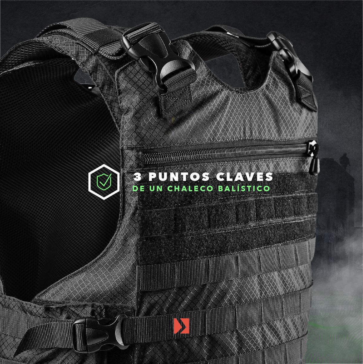 Puntos clave chaleco balistico o antibalas Arvak Tactical